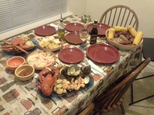 Our version of a New England Clambake....in Indy. It was awesome!!