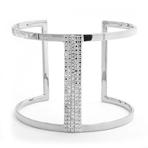 VictoriaKay Diamond Cuff Bracelet Set in Rhodium Plated Sterling Silver JK I2I3 * Details can be found by clicking on the image.