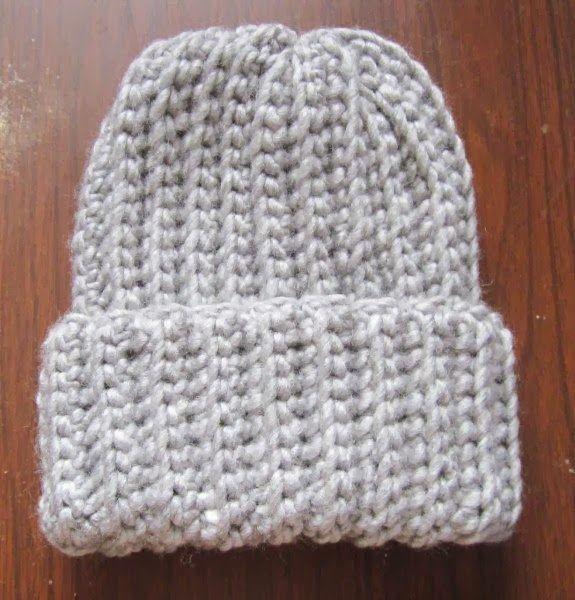 Crochet Ribbed Hat Pattern | Gorros, Sacos tejidos y Gorros crochet