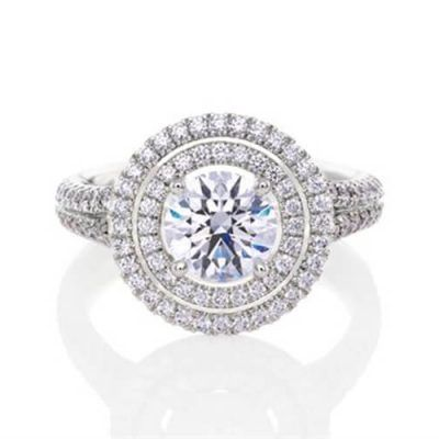 Double Halo Diamond Engagement Rings Sydney Germani Jewellery