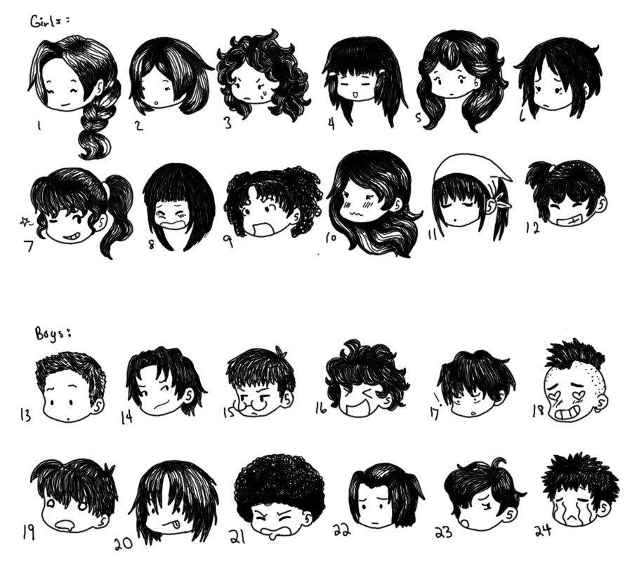 Chibi Hair Styles by SuperCatGirl.deviantart.com on @DeviantArt - Chibi Hair Styles By SuperCatGirl.deviantart.com On @DeviantArt