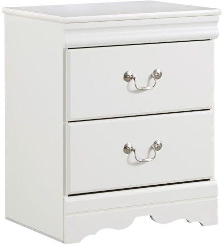 Best Anarasia White 2 Drawer Night Stand 400 x 300