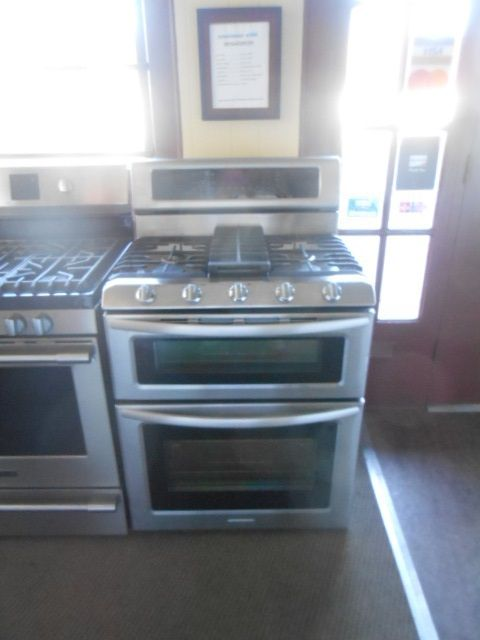 Appliance City   KITCHENAID DOUBLE OVEN DUAL FUEL 5 BURNER SELF CLEAN BOTH  OVENS CONVECTION LARGE