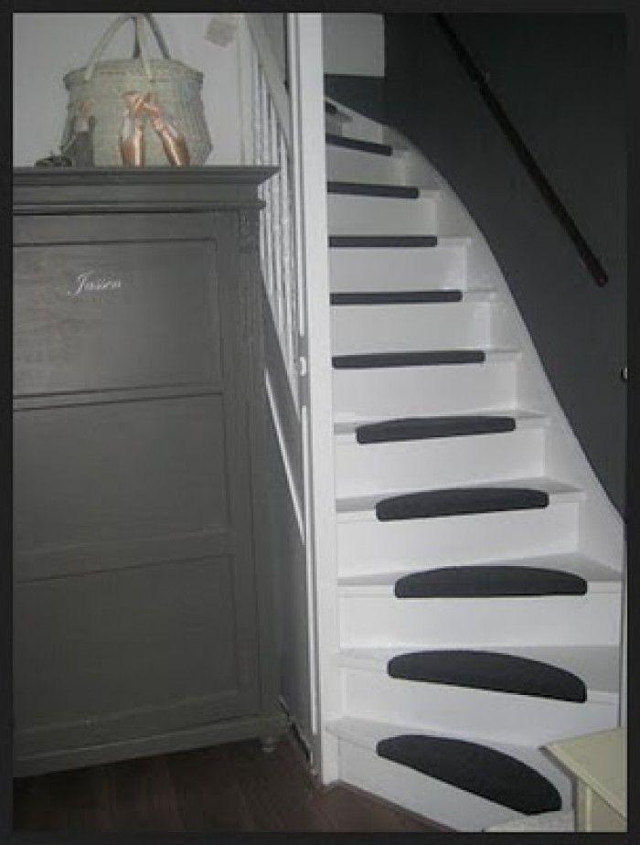 Leuk idee om onze oude houten trap te renoveren home hal pinterest - Decoratie montee d trap ...