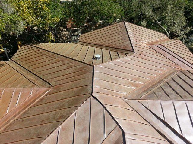 Fully Seamed Interlocking Standing Seam Panels In Copper Standing Seam Standing Seam Roof Copper Roof