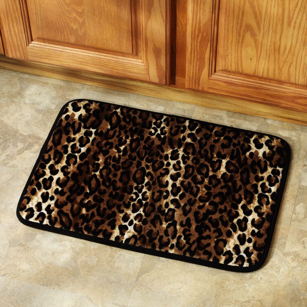 Leopard Bath Rug Set