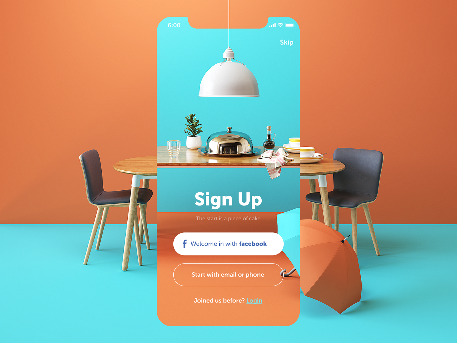 Restaurant App Sign Up #userinterface