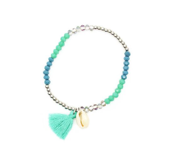 22e21007ad41 Idée cadeau femme-Bracelet coquillage swarovski | Accessoires ...