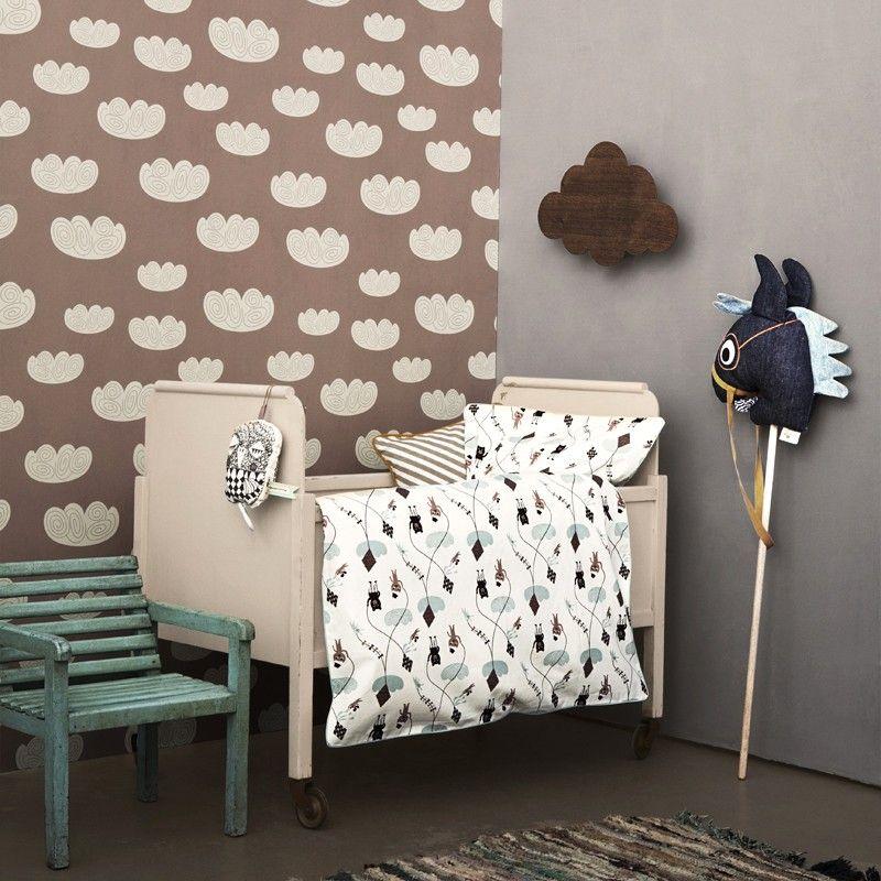 ferm living kinder-tapete cloud rosa | wolke und rosen, Schlafzimmer design