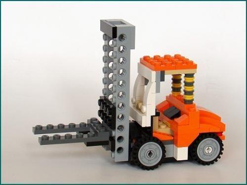 Lego Set Moc 2595 Forklift Truck Building Instructions And Parts