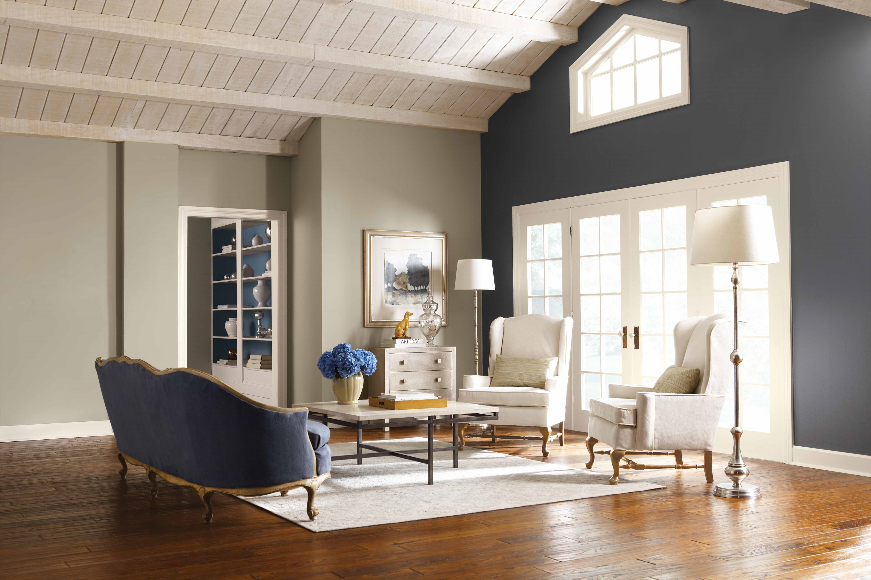 Peppercorn Paint Accent Walls In Living Room Living Room Colors Paint Colors For Living Room #painting #accent #walls #living #room