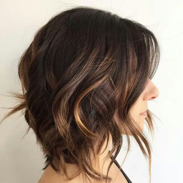 choppy bob with balayage highlights look book. Black Bedroom Furniture Sets. Home Design Ideas