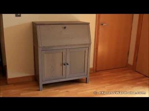Interior of ikea hemnes bureau youtube my work space pinterest