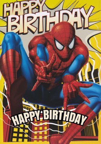 Free Spiderman Birthday Ecards Happy Birthday Spiderman Spiderman Birthday Spiderman