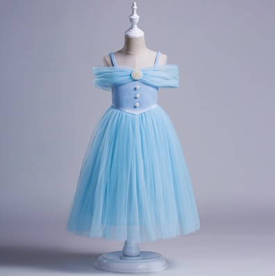Girl Party Ball Gown Prom Princess Pageant Bridesmaid Wedding Gauze ...