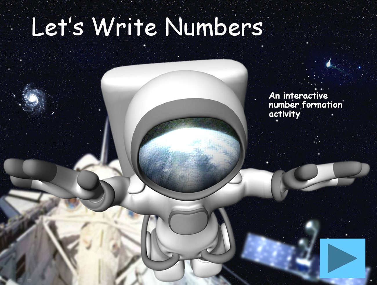Space Themed Number Formation For Iwb This Presentation