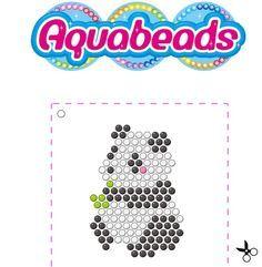 Aquabeads Panda Template Bügelperlen Pinterest Panda Template - Aquabeads templates