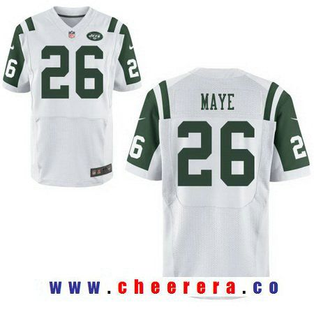 Hot Men's 2017 NFL Draft New York Jets #26 Marcus Maye White Road