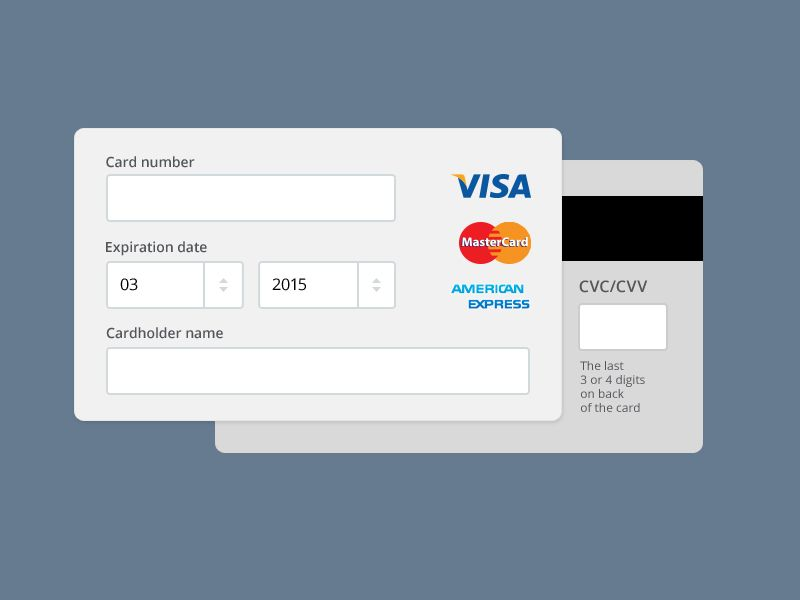 Payment Form Psd  Forms