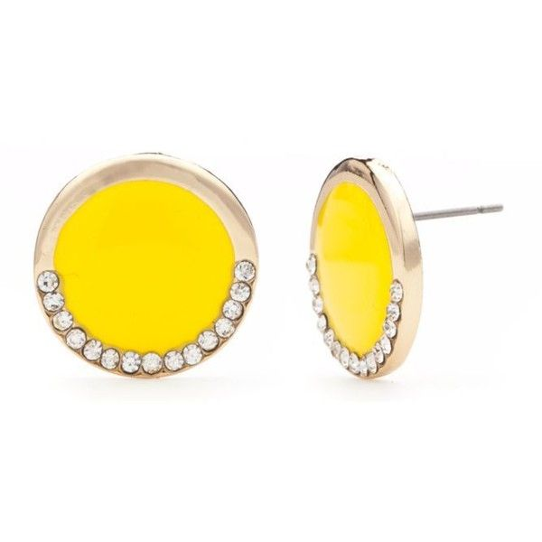 New Directions Yellow Fb16wn Yel Epoxy Botton Ear ($8.40) ❤ liked on Polyvore featuring jewelry, earrings, yellow, yellow earrings, earrings jewelry, polish jewelry, button jewelry and yellow jewelry