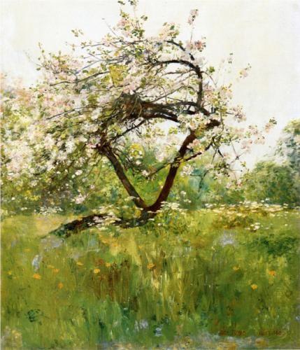 peach blossoms villiers le bel childe hassam wikiart org 風景画 アートのアイデア 美術