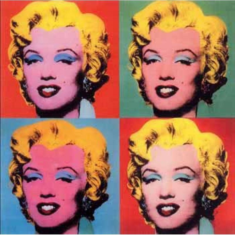 Andy Warhol: The Shot Marilyns (4 tele quadrate da 40 pollici) #andywarhol