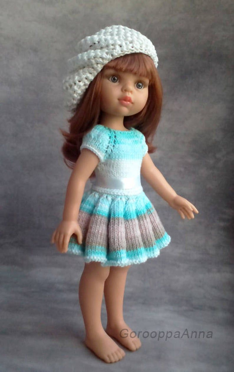 PDF Doll Clothes Knitting Pattern Best Friends Outfit for Paola Reina-type dolls By Kasatka Dolls Fashions