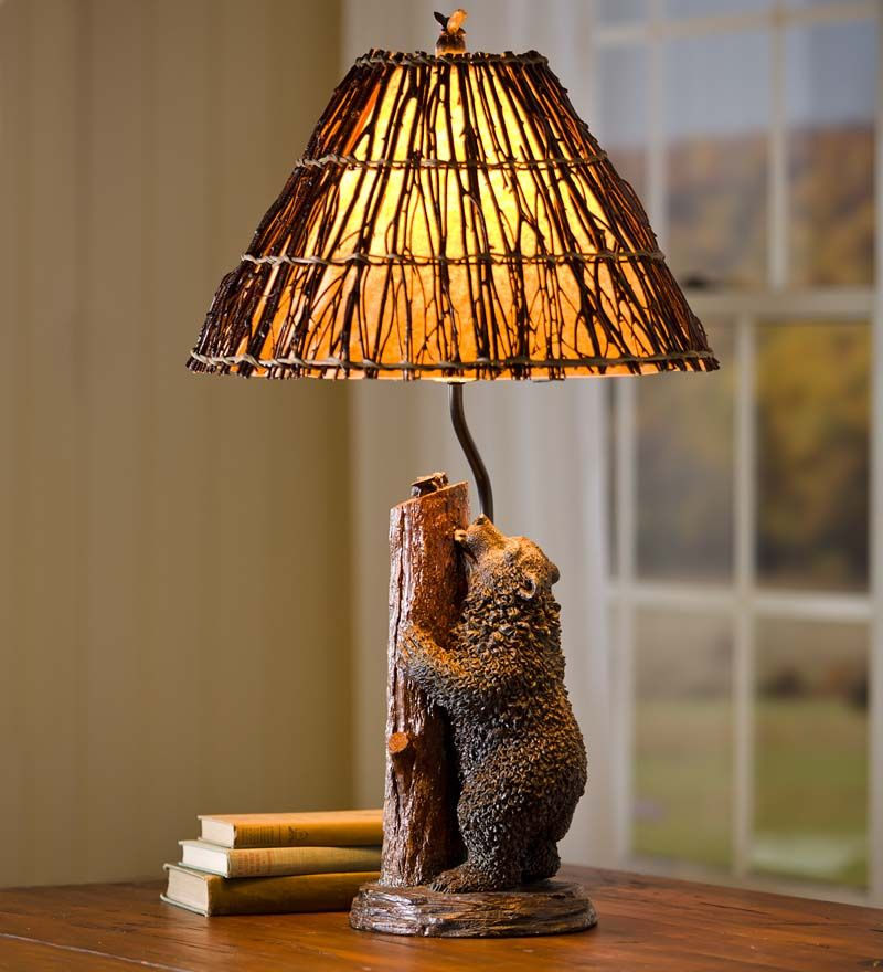 Resin Honey Bear And Bees Table Lamp Decorating Pinterest