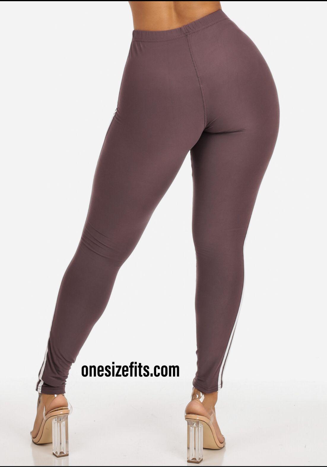 b2f78140b2 Raisin Color Women,s Skinny Fit Waistline Leggings Pants SOLO1R ...