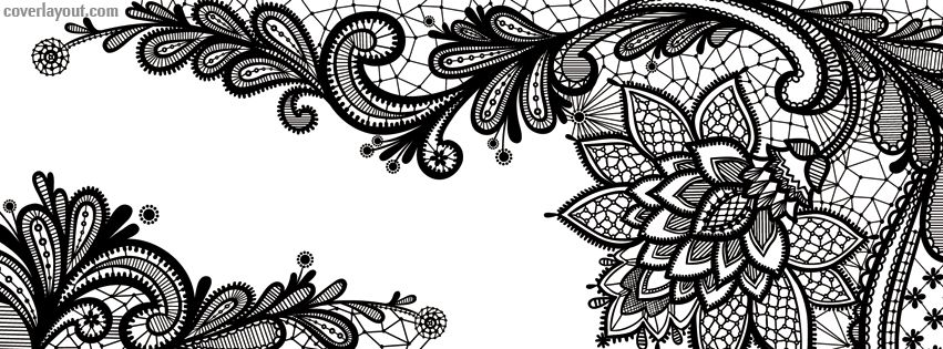 black lace flower facebook cover facebook covers phone cases pinterest. Black Bedroom Furniture Sets. Home Design Ideas