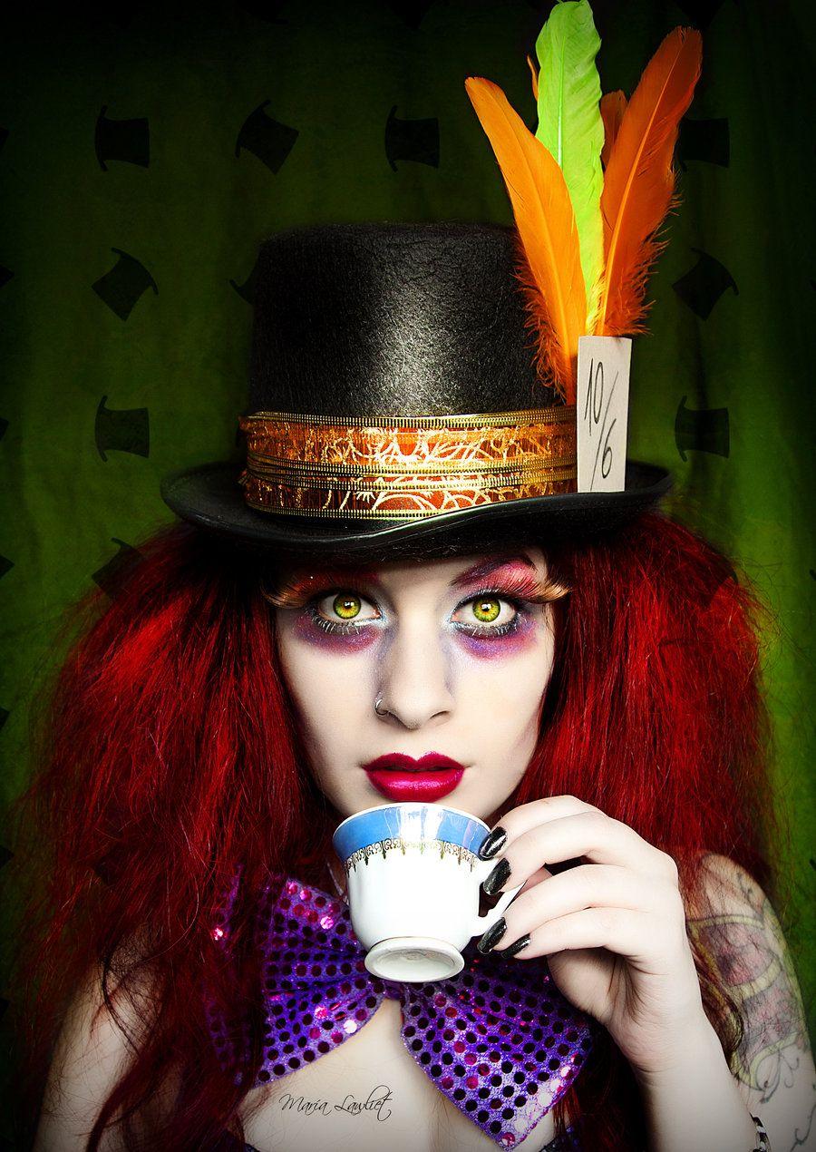 Sombrerero loco. Maquillaje. carnaval.  2e1927faa9d