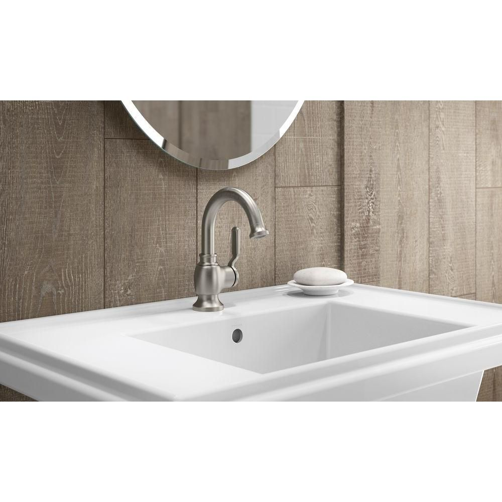 kohler single hole bathroom faucet. KOHLER Worth Single Hole Single-Handle Bathroom Faucet In Vibrant Brushed Nickel-K- Kohler L