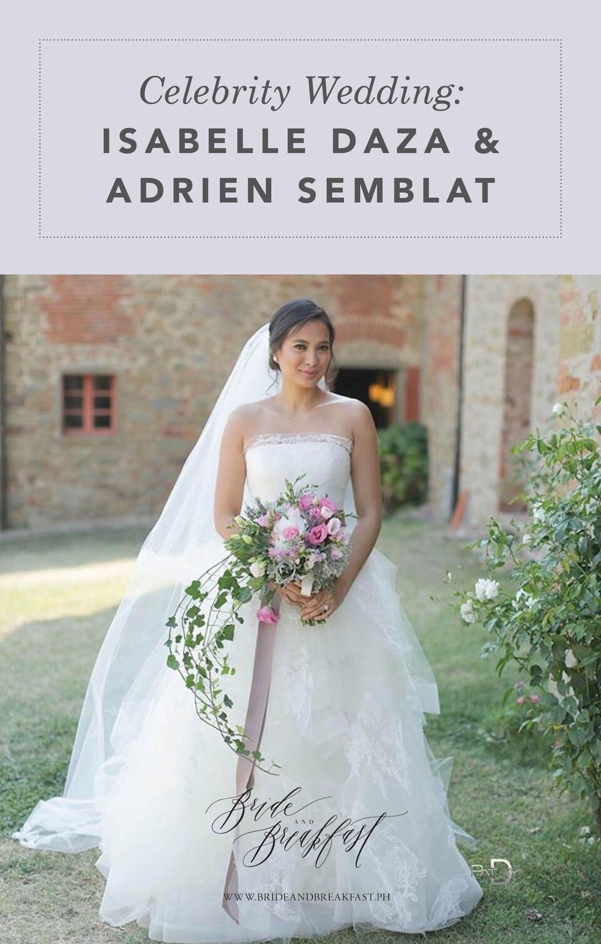 Celebrity Wedding Isabelle Daza And Adrien Semblat Celebrity
