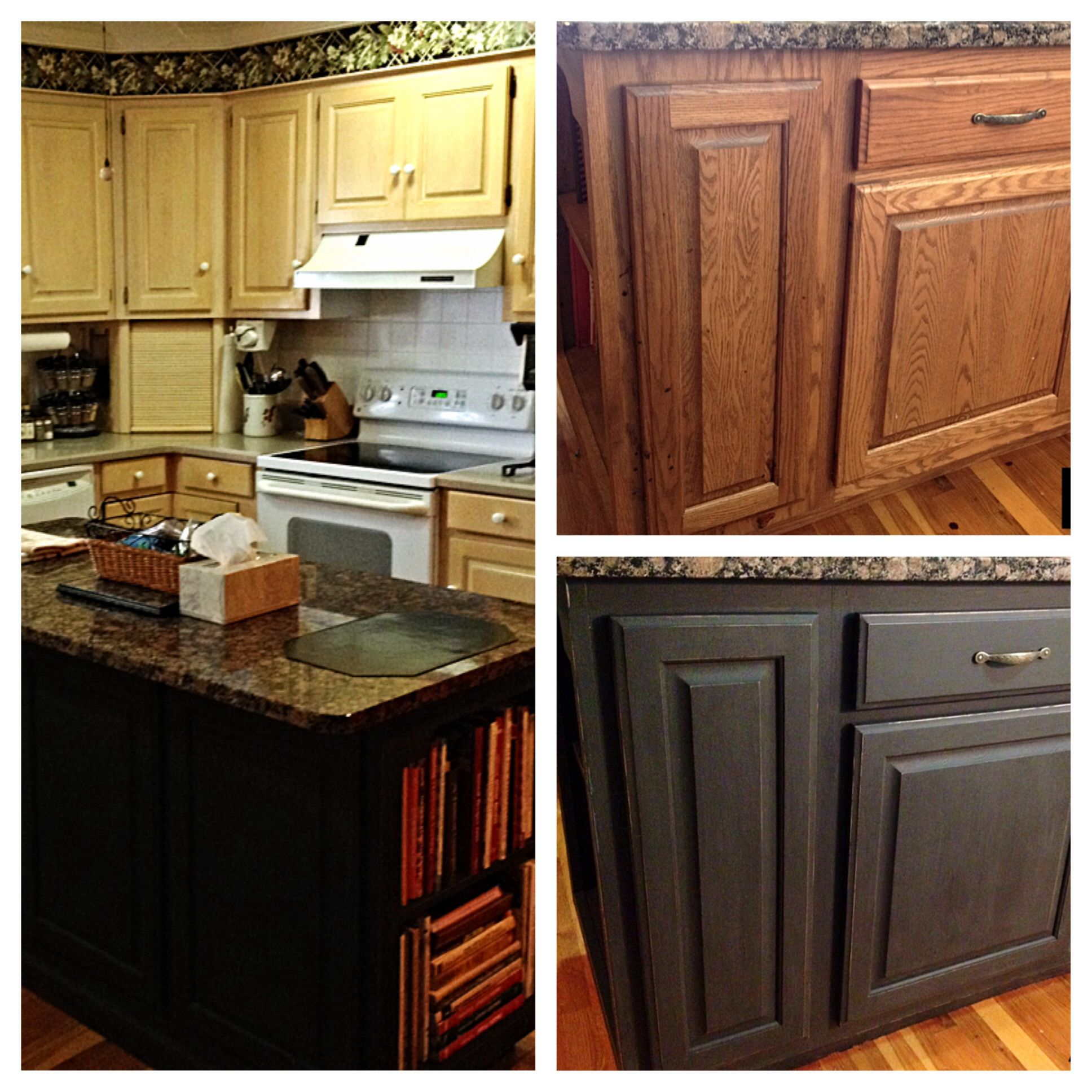 Chalk Painted The Kitchen Island Made My Own Chalk Paint Using