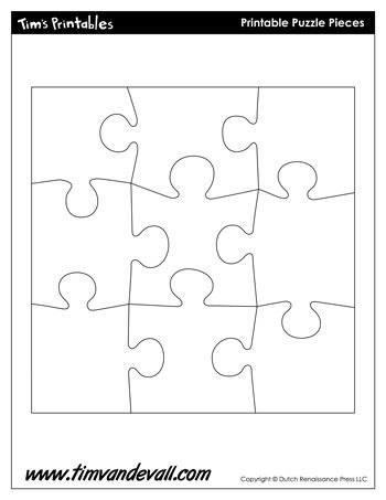 A blank puzzle template for making your own puzzle día madre - blank puzzle template
