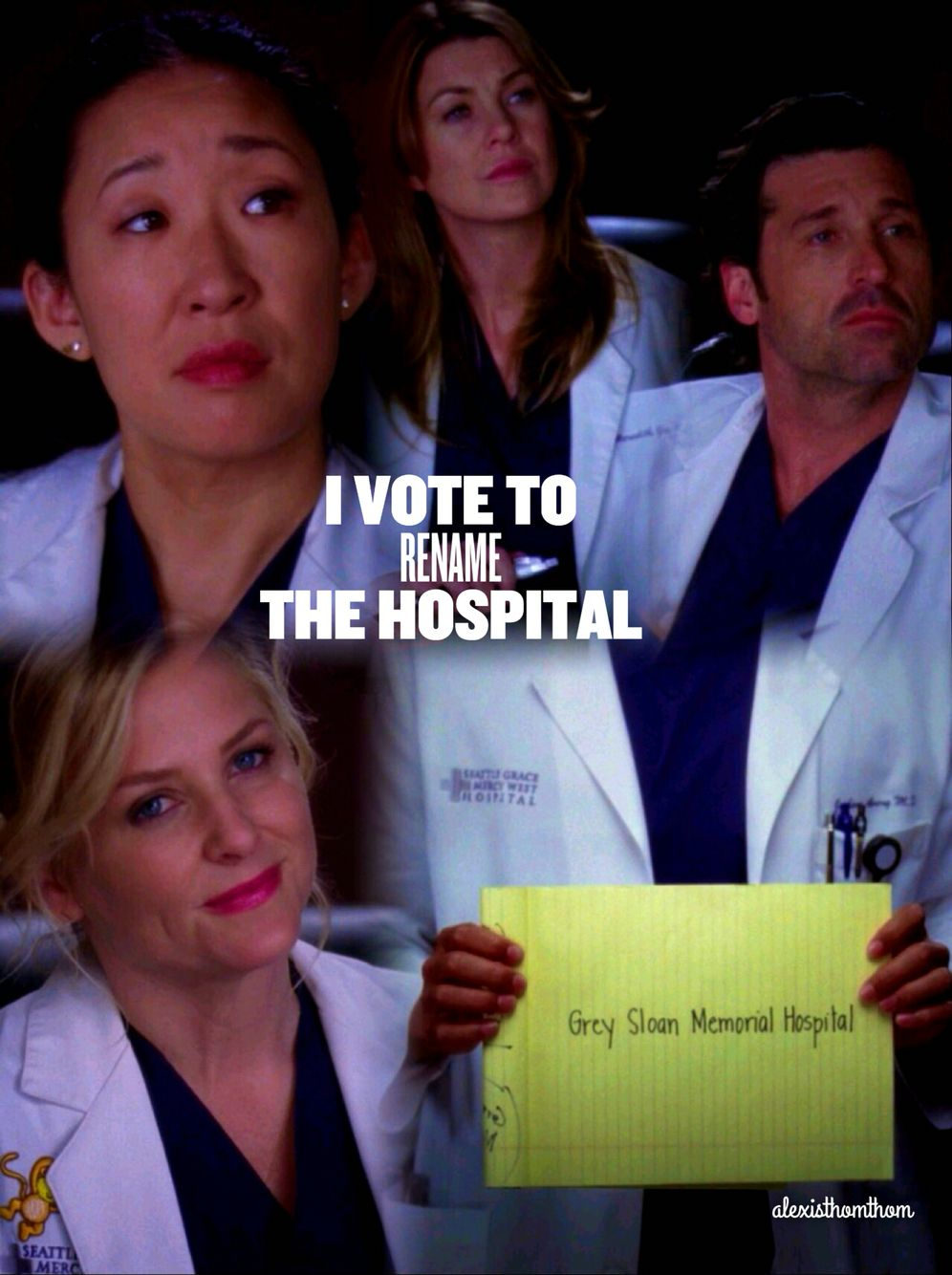 All the plane crash victims with the new hospital name | Greys ...