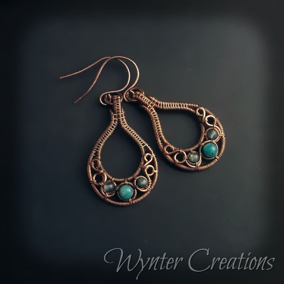 Pin by Donna Shropshire on Wire Wrapped Earrings | Pinterest | Wire ...