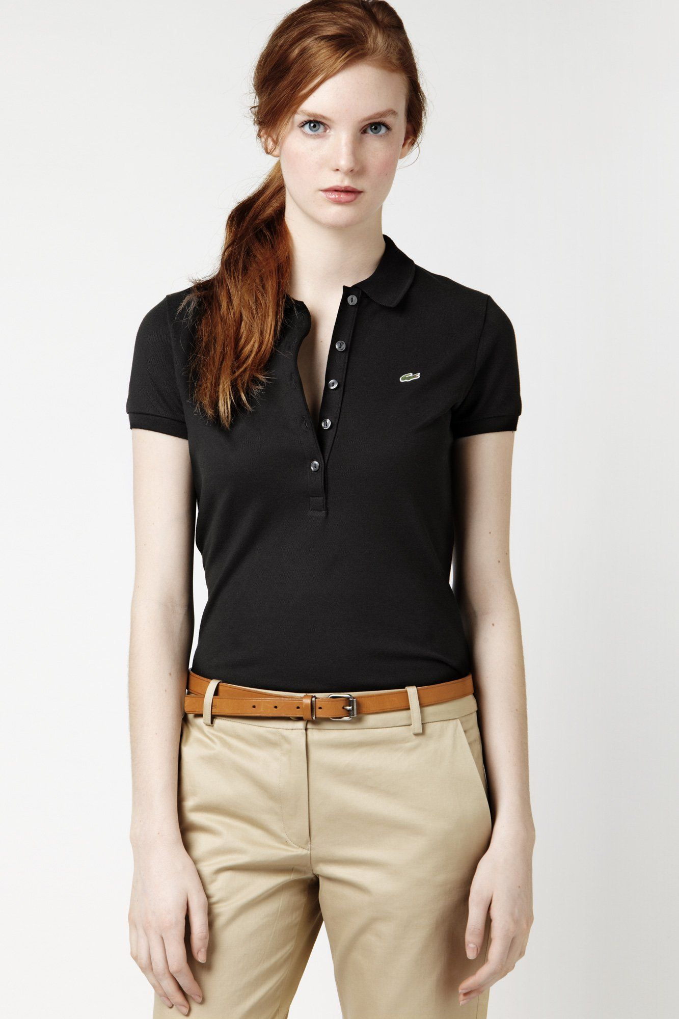 88dd752930 Lacoste Polo | Lacoste | Polo shirt women, Polo shirt outfit women's ...