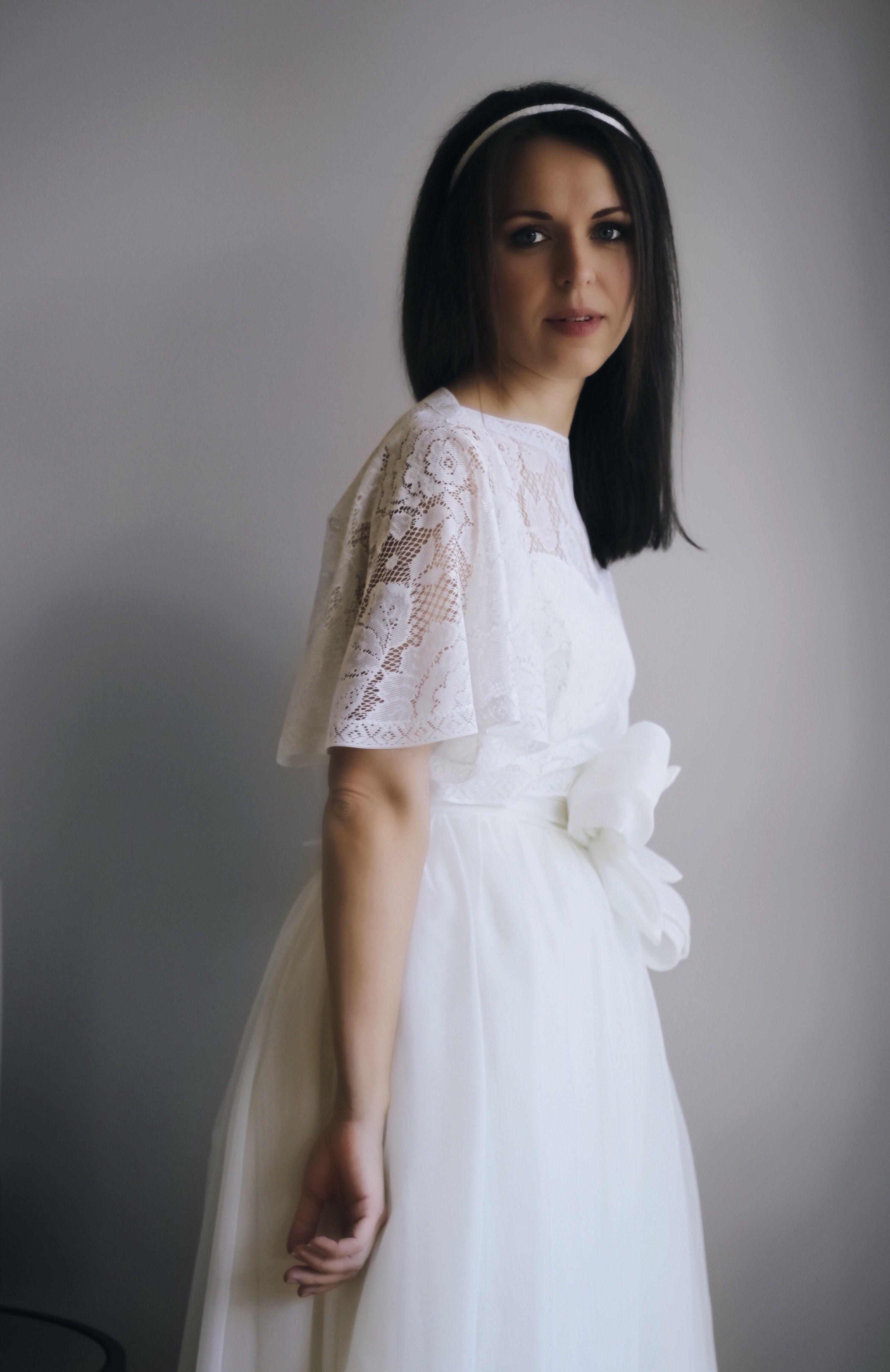 Handmade wedding dress  Handmade Wedding Dress Ivory Wedding Gown Ivory Wedding Dress A
