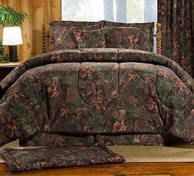 Maxim Pine Shadows Camo Bedding Set Comforter Sets Camo Bedding