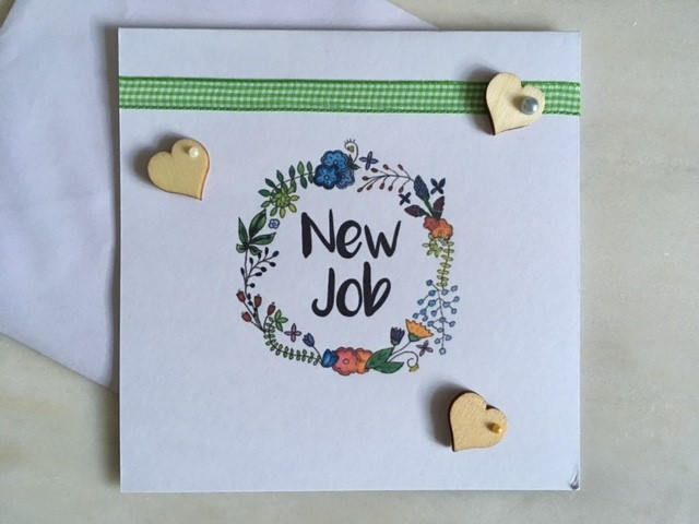 New job handmade simple design greeting card whenexciting times are new job handmade simple design greeting card whenexciting times are ahead by heartandcraftsbyjo on m4hsunfo