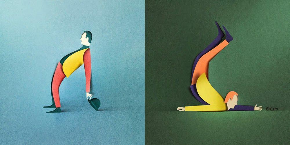 Hi: Digital Papercut Illustrations by Eiko Ojala