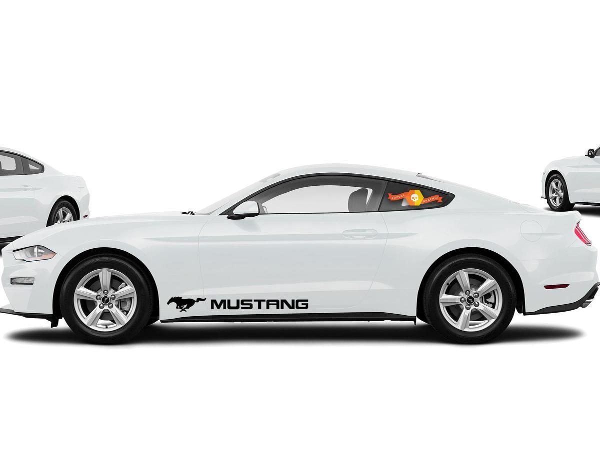 Ford Mustang 2x Side Vinyl Body Decals Car Sticker Logo Graphics Emblem Logo Mustang Logo Ford Mustang Mustang [ 905 x 1200 Pixel ]