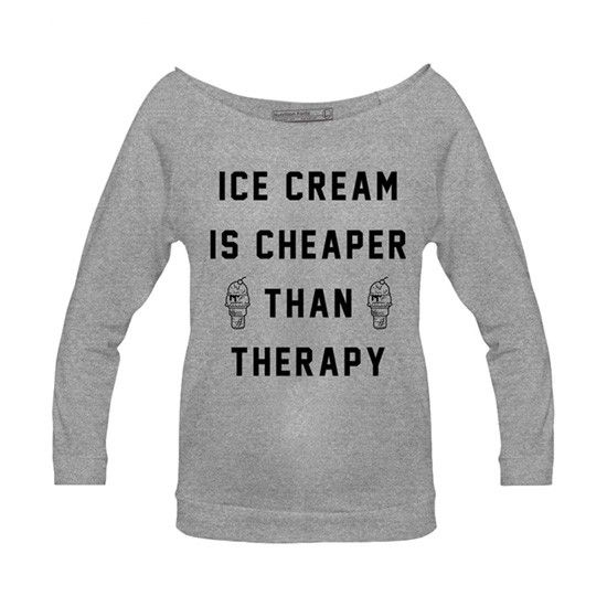 Women's Ice Cream Therapy Raglan by Pyknic (Grey) @Emma  we needs this!!!