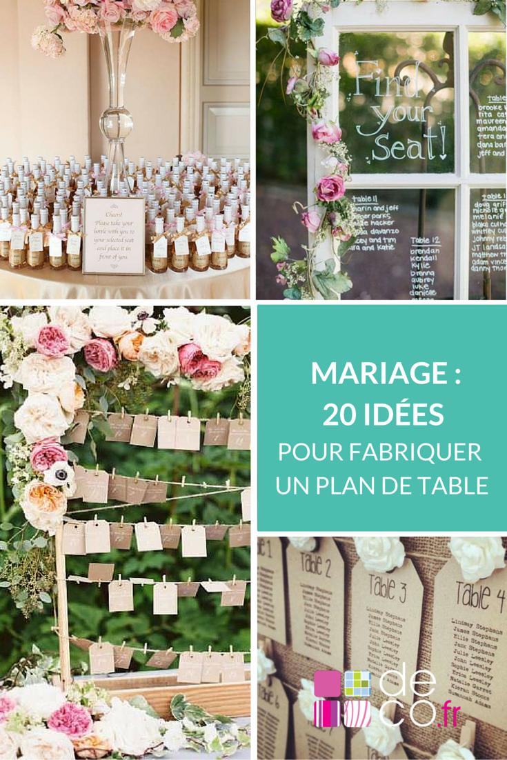 Diy mariage 30 id es pour fabriquer un plan de table for Faites vos propres plans gratuitement