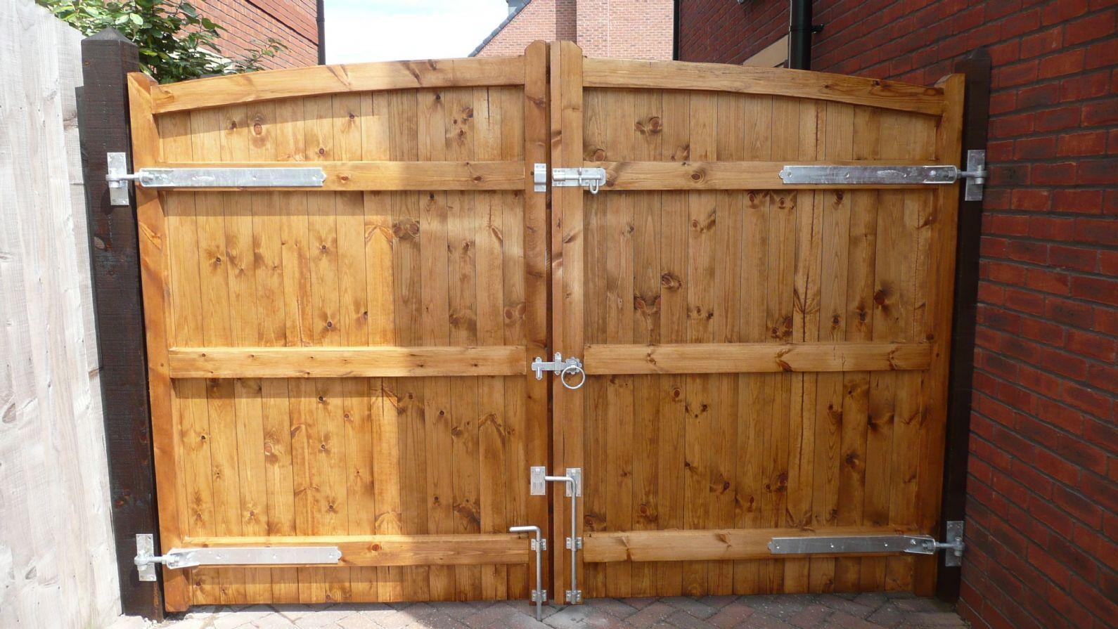 Wooden Driveway Gate Hardware Driveway gate, Wooden