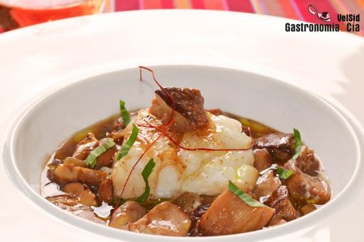 Bacalao con Boletus (Cod with Porcini)