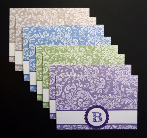 Altered Note Cards - Personalized with Monogram