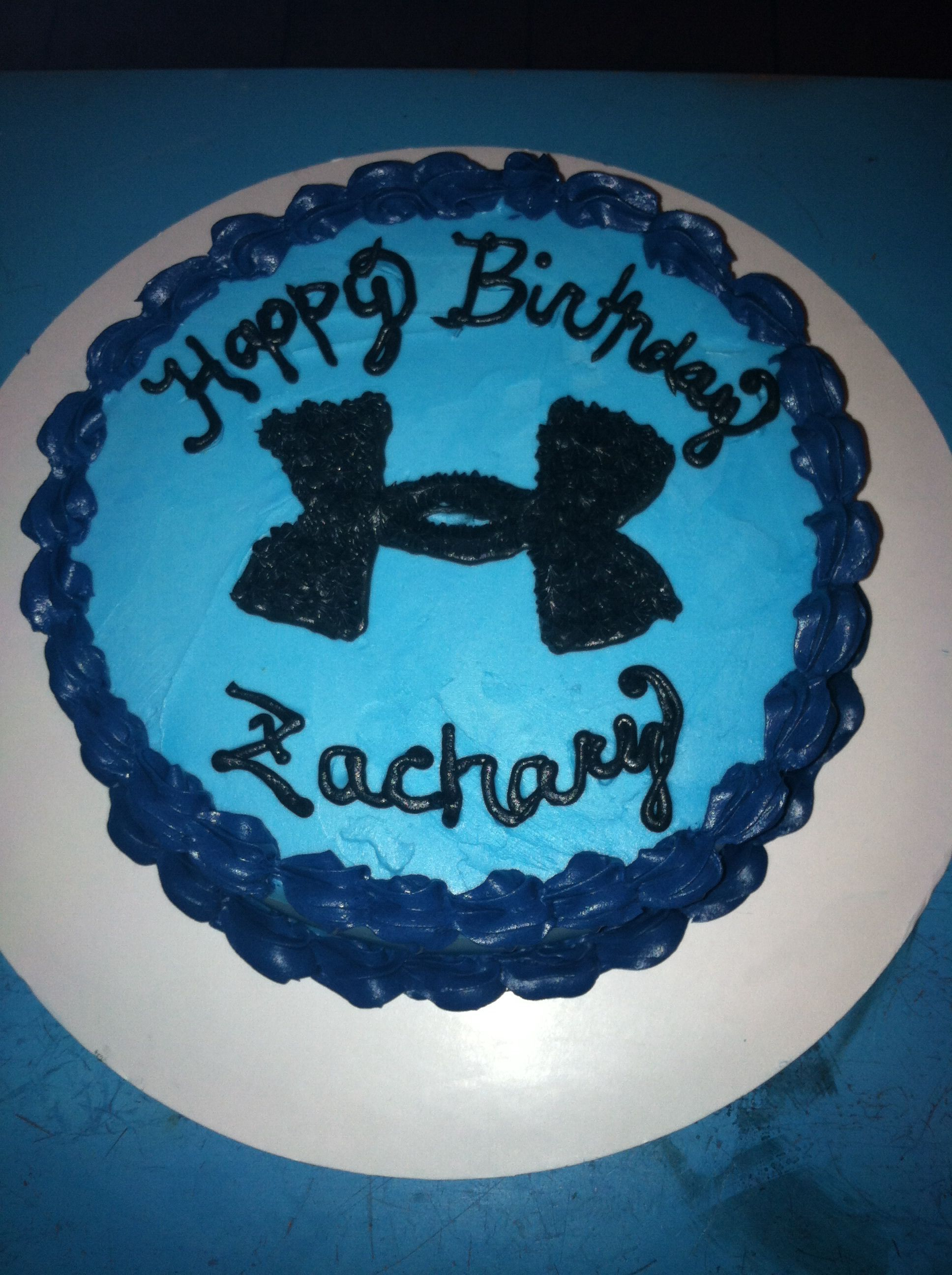Under Armour Cake Heathers Cakes Pinterest Armours Cake And