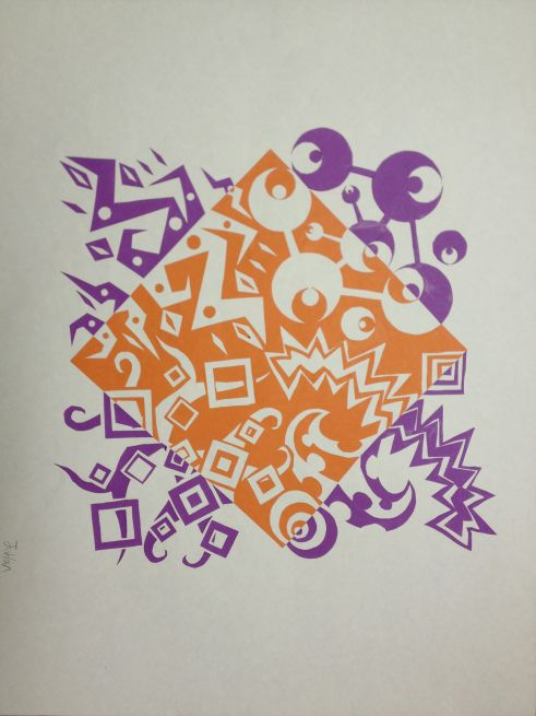 NOTAN Positive & Negative Space Project | ART LESSON IDEAS ...